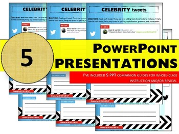 BUNDLE! 125 Celebrity Tweets to Improve Writing Mechanics & Conventions