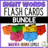New Zealand Sight Words - Flash Cards for Magenta to Orang