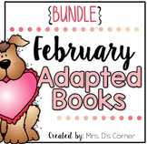 BUNDLE 18 Adapted Books for February ( Level 1 and Level 2 )