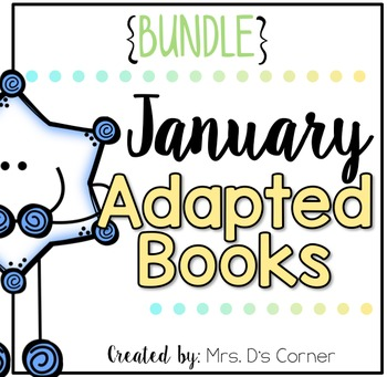 BUNDLE 18 Adapted Books for January ( Level 1 and Level 2 )