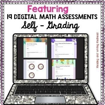 BUNDLE: 38 Digital Self Grading Math Assessments for Google Drive