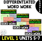 BUNDLE - 1st Grade FUNdamentally Differentiated Word Work Activities - UNITS 5-7