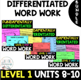 BUNDLE- 1st Grade FUNdamentally Differentiated Word Work Activities-UNITS 8 - 10