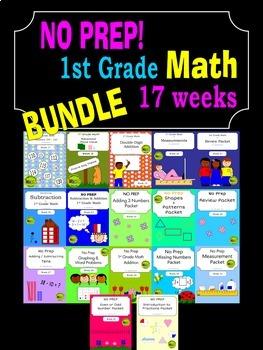 BUNDLE - 1st Grade Math Curriculum - 2nd Semester (17 weeks)