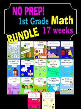 BUNDLE - 1st Grade Math Curriculum - 2nd Semester (17 weeks)