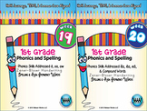 BUNDLE: 1st Grade Phonics and Spelling Zaner-Bloser (Weeks 19-24) {TEKS-aligned}