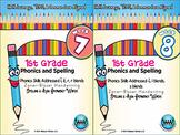 BUNDLE: 1st Grade Phonics and Spelling Zaner-Bloser (Weeks 7-12) {TEKS-aligned}