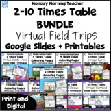 BUNDLE 2-10 Times Table Multiplication Digital Trips Probl