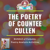 BUNDLE: 2 Foldable Poetry Analysis Activities: Countee Cullen