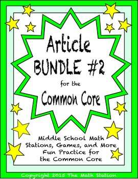 BUNDLE #2 Middle School Math Articles for the Common Core