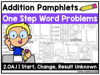 BUNDLE - 2.OA.1 Addition/Subtraction ONE Step Word Problem Pamphlets