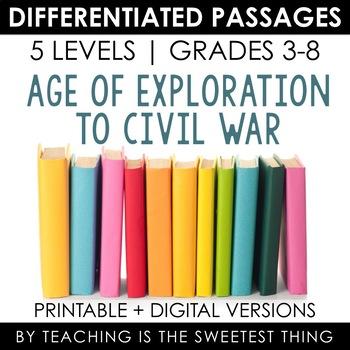 Social Studies BUNDLE Vol. 2: Differentiated Reading Passages