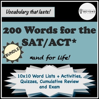 BUNDLE--200 SAT Vocabulary Words, Activities, Quizzes, & More!