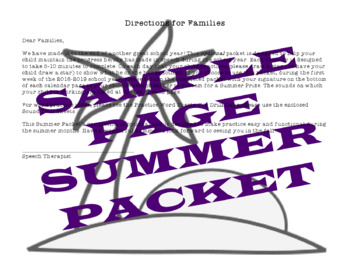 BUNDLE! 2018 Articulation & Language Summer Practice Packets