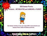 BUNDLE!! 2019 Summer Practice Packets for ARTICULATION and LANGUAGE/FLUENCY