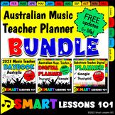 BUNDLE 2021 Australian Teacher Planner Digital Teacher Binder Calendar Substitut