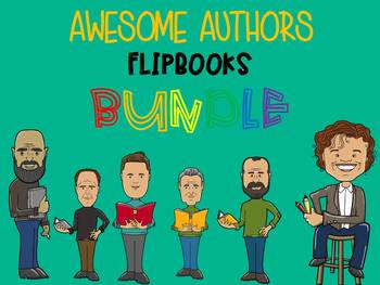 BUNDLE : 21 Awesome Authors Study and Research Flipbooks