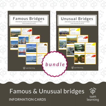 BUNDLE: 25 famous & 20 unusual bridges from around the world