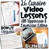 BUNDLE 26 Cursive Handwriting Video Lessons ALL CAPITAL LOWERCASE Extra Practice