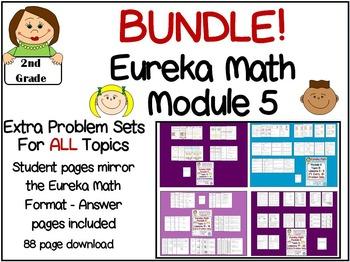 BUNDLE 2nd Grade Eureka Math Module 5 All Topics All Lessons Extra ...