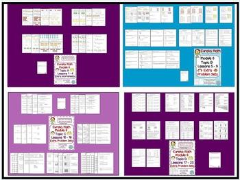 BUNDLE! 2nd Grade Eureka Math Module 6 extra Problem Sets for the Entire Module