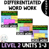 BUNDLE - 2nd Grade FUNdamentally Differentiated Word Work Activities - UNITS 1-3