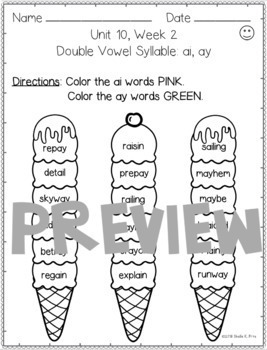 BUNDLE- 2nd Grade FUNdamentally Differentiated Word Work Activities- UNITS 10-12
