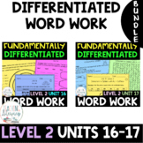 BUNDLE- 2nd Grade FUNdamentally Differentiated Word Work A