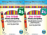 BUNDLE: 2nd Grade Phonics and Spelling D'Nealian (Weeks 25-32)