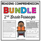 BUNDLE 2nd Grade Reading Comprehension Passages with Questions
