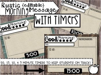 BUNDLE: 3 Products - Morning Message, To Do List, and Daily 5 and 3 Templates