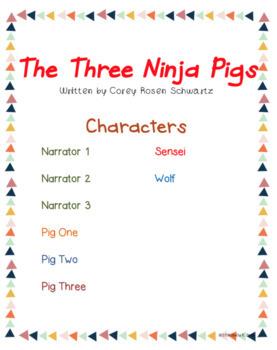 Readers' Theater Scripts Ninja Pigs, Red Riding Hood and Ninja Chicks BUNDLE