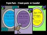 BUNDLE: 3 book activity packs EDWARD and EDWINA the EMU ol