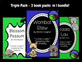 BUNDLE: 3 book activity packs WOMBAT STEW koala lou BLOSSO