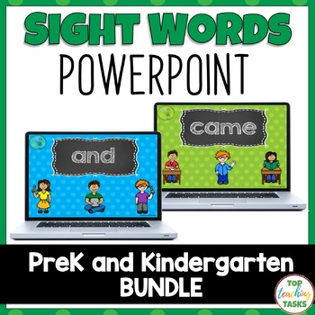 pre k and kindergarten powerpoint bundle dolch by top teaching tasks
