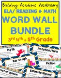 ELA & MATH Academic Vocabulary 3rd-4th Bundle