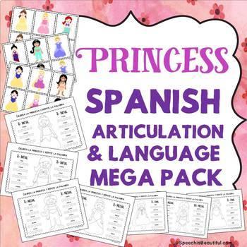 BUNDLE: 4 Spanish Articulation & Language Mega Packs - 378 PGS of NO PREP
