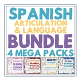 BUNDLE: 4 Spanish Spanish Speech Therapy Artic & Language-