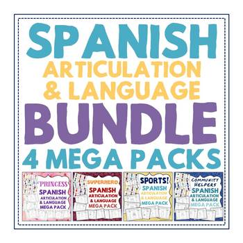 BUNDLE: 4 Spanish Articulation & Language Mega Packs - 378