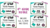 """BUNDLE - 4th Grade """"I Can"""" Statement TEKS Objectives Posters - Distressed"""