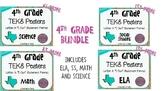"""BUNDLE - 4th Grade """"I Can"""" Statement TEKS Objectives Poste"""