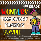 4th Grade Wonders Reading Series Units 1-6 Daily Homework BUNDLE