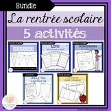 BUNDLE - 5 Activités pour la rentrée scolaire - FRENCH