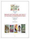 BUNDLE 5 Art Lessons Preschool Preschool Artists History P