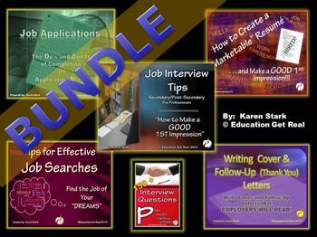 "BUNDLE - 6 CAREER/JOBS POWERPOINTS + Interview Questions ""COMPLETE Pkg. Deal"""