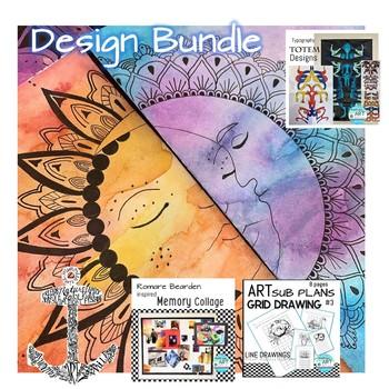 BUNDLE 5 DESIGN BASED ART 1 LESSONS