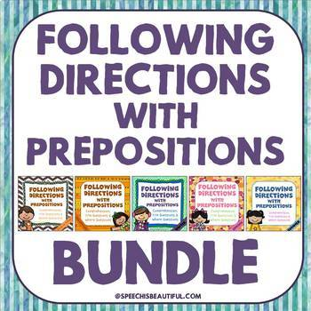 BUNDLE: 5 Following Directions with Prepositions Products