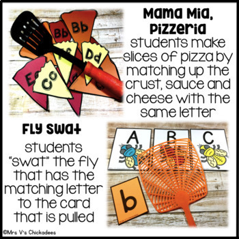 bundle: 5 letter identification hands on centers by mrs v's chickadees
