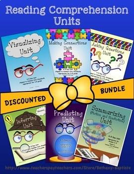 BUNDLE: 6 Reading Comprehension Units, aligned to CCSS, grades 3-5