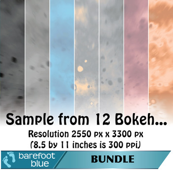 BUNDLE (55) of Bokeh Backgrounds/Digital Papers/Printables